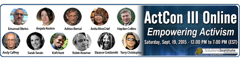 ActCon III is this Saturday, Sept. 19 – World-class speakers and audience Q&A – Buy your ticket today!